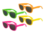S6618 - Neon Assorted Blues Brother Style Sunglasses  - UV400