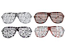 S70202 - Animal Print Slotted Glasses