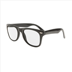 S70218 - Black Blues Bro Glasses w/ Clear Lens