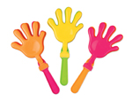 "S7025 - 7"" Neon Hand Clackers-Assorted"