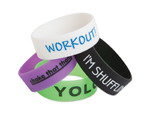 S70290 - Party Sayings Rubber Bracelet Assortment