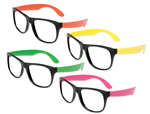 Neon Nerd Glasses without Lenses