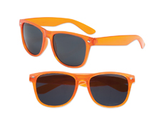 S70358 - Transparent Orange Iconic Sunglasses - UV400