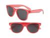 S70359 - Transparent Red Iconic Sunglasses - UV400
