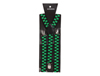 Green & Black Checked Suspenders