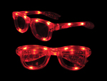 LED Iconic Glasses - Red