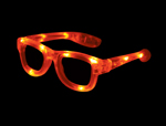 S70604 - LED Kids Glasses - Clear Frame With Orange LEDs