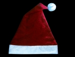 S71272 - Santa Hat With Light Up Pom Pom