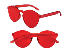 S71406 - Red Solid Rimless Glasses