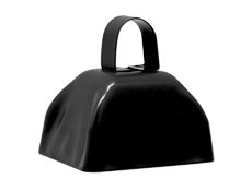 "S7632 - 3"" Black Cowbell"