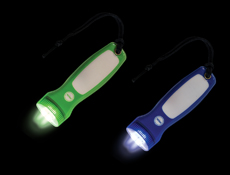 S81050 - Asst. Uv LED Flat Flashlight