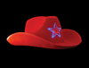 S8406 - Flashing Red LED Cowboy Hat