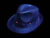 LED Blue Sequin Fedora