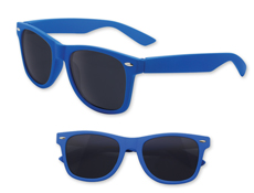 Blue Rubberized Iconic Sunglasses - UV400