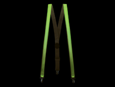 S90145 - LED Suspenders - Green