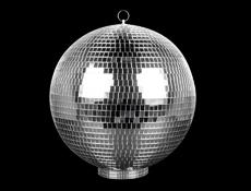 "S9198 - 12"" Disco Ball With Base"