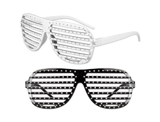 S9448 - Slotted Rhinestone Glasses With Studs