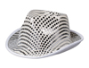 S9494 - Silver Sequin Fedora Hat