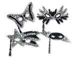 Sequin Masks with Sticks