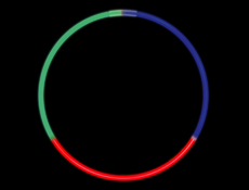 "22"" Glow Light Tricolor Red/Green/Blue"