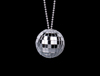"WP1008 - 2"" Disco Ball Necklace"