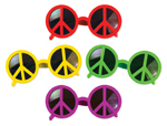 Neon Peace Sign Glasses