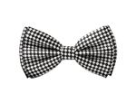 WP1210 - Silver & White Checkered Bow Tie