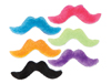 Neon Mustache Assortment.