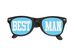WP1237 - Best Man Printed Lens Glasses