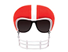 Red Football Helmet Game Shade