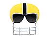 Yellow with Black Football Helmet Game-Shade