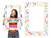 Confetti Photo Booth Prop Frame