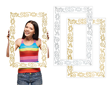 Glitter Photo Booth Prop Frame