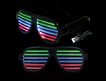 WP1353 - Sound Reactive LED Slotted Glasses