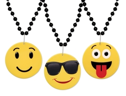WP1364 - Emoticon Medallion Beads