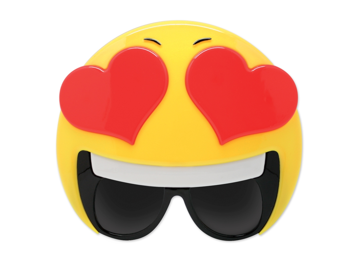 WP1385 - Emoticon Heart Eyes Sun-Stache
