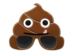 WP1386 - Emoticon Poop Sun-Stache
