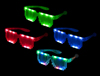 WP1403 - Light Up Pixel Glasses - Asst