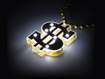 DOLLAR SIGN LIGHT UP NECKLACE
