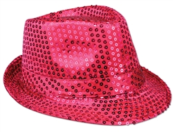WP1432 - Pink Sequin Fedora