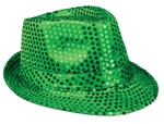 WP1433 - Green Sequin Fedora