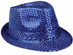 WP1434 - Blue Sequin Fedora