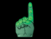 WP1443 - #1 Foam Finger - Green LED