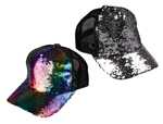 WP1455 - Rainbow Reversible Sequin Baseball Cap