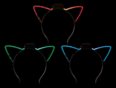 WP1471 - LED Cat Ear Headband Assorted