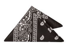 WP17BLK - Black Bandannas