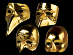 Four Faces Gold Masks