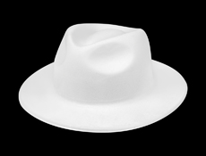 WP40W - White Velour Gangster Hats