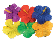 Silk Hibiscus Flowers